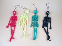 Wholesale Realistic Skeleton Human - Wholesale- Funny Halloween toy Length 20cm Realistic human skeleton mold Mischief toys Scary jokes toy For Kids April fool's day