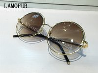 Wholesale brand new rims - 2017 new fashion women brand sunglasses MJ11s metal rim frame double round frame sunglasses coating mirror lens fashion summer style