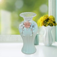 Wholesale Book Souvenir - 2250 Manual Book FLOWER Vase Originality Ceramics Vase Fashion Ceramics Arts And Crafts