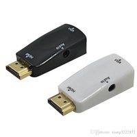 HDMI Male To VGA Female Converter Box Adapter com cabo de áudio AV de 3,5 mm para PC HDTV