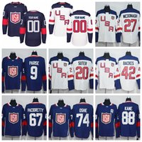 Wholesale Red Bishops - Team USA 20 Ryan Suter 27 Ryan McDonagh 30 Ben Bishop 32 Jonathan Quick 67 Max Pacioretty 88 Patrick Kane 2016 World Cup of Hockey Jerseys