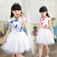 Wholesale Chinese Tang Suit Style Child - Summer new Chinese dress Girls' Bitter fleabane bitter fleabane dress children Tang suit Show dancing dress