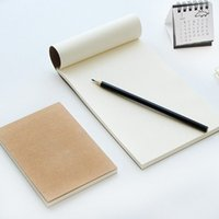 Wholesale Book Blank Pages - Wholesale- Pure color kraft paper paper simple graffiti this notebook blank page student note book sketchbook