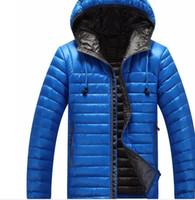 ingrosso piume piuma per abbigliamento-Vendita Brand Inverno 2016 Uomo giacche ultraleggero piumino Duck Down Coat Jacket, Parka Clothing Hood inverno piuma giacca uomo cappotto