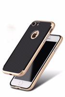 cubierta de goma trasera móvil al por mayor-Funda híbrida de lujo para iPhone 7/7 Plus Cubierta Dura PC de silicona blanda silicona Teléfono móvil Volver Shell para iPhone7 / 7PLUS