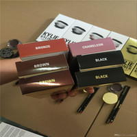 Compra Kit Di Eyeliner-Spedizione gratuita Kit Kylie Kit Eyeliner set Eyeliner Pencil Eye Shadow Brush set di tre pezzi set Kyli Kyliner Kit Kyli cosmetici Kit Kyliner