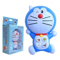 Wholesale Music Baby Phone - Blue fat man Children's toys baby ABS educational simulationp kids music mobile phone the latest version of Baby phone