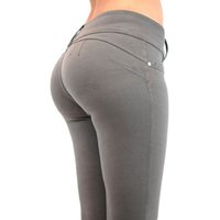Wholesale Wholesale Leggings United States - Wholesale- Carry buttock sexy cultivate one's morality leggings Europe and the United States pants jeggings jeans for women zipper leggings