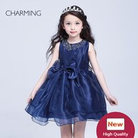 Wholesale lace flower girl dresses china - navy girls dress little girls party dresses designer kids dresses buy from china direct cute little girl dresses dressy toddler dresses