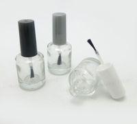 Wholesale Empty Nail Polish Enamel Bottle - Wholesale- 300 x 15ml Empty Nail polish Bottle Transparent nail enamel bottle,1 2 glass nail polish Bottle With Brush