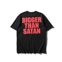 Wholesale Marilyn Print - 2017SS Summer Justin Bieber FOG FEAR OF GOD Oversize Bigger Than Satan BIEBER T Shirt HIPHOP METALLICA Marilyn Manson Cotton Tee