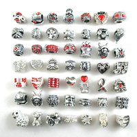 Wholesale Europe Fashion Charm Bead Bracelet - Free Shipping silver plated DIY pandora style Beads Charms fit Europe Bracelets Fashion accessories for diy jewelry
