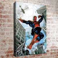 Wholesale Framed Comic Art - (No frame) Spider man comics series HD Canvas print Wall Art Oil Painting Pictures Home Decor Bedroom living room kitchen Decoration