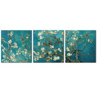 Wholesale Melody Art Panels Canvas Wall Art Abstract Vincent Van Gogh S Painting An Almond Tree In Blossom for Home Decor inchx16inch Framed
