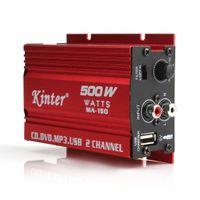 mini amplifikatörler stereo toptan satış-Yeni Varış 500 W MA-150 DC9-14V 2-CH Mini Araba Motosiklet Için Hi-Fi Stereo Ses Amplifikatör Amp Subwoofer CEC_836