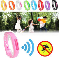 Wholesale Mosquito Repellent Bracelets Anti - 2017 New Children Baby Summer Anti-Mosquito Ring Incense Repellent Mosquito Bracelet Pest Control 9 Colors Free shipping