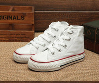 Wholesale Colored Canvas Shoes - Newest 2017 multi-color boys and girls canvas shoes candy-colored breathable Children Casual Shoes Kids Shoes All Size 23-34