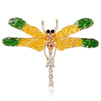 Children's paint epoxy resin - New insect series Korean cartoon painted drops of water diamond dragonfly brooch fashion insects corsage lady accessories Epoxy resin proces