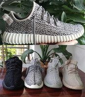 Wholesale Rock Hunting - Pirate Black Originals Y Kanye West 350 Boost Lows Men's Sports Running Shoes Turtle dove Grey Moon Rock Monrock Oxford Tan shoes Sneakers