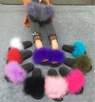 Wholesale eva wedge flip flops - 2017 new Fur Slide Flip Flops Women Ostrich Feather Home Slippers Female Sweet Fenty Wedges Sandals Beach Pantufa Platform Chinelo