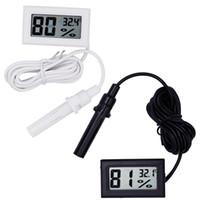 medidor de humedad al por mayor-100 unids digital lcd interior conveniente sensor de temperatura medidor de humedad termómetro higrómetro indicador descuento grande