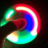 Wholesale Light Toys For Sale - Hot Sale LED Light Hand Finger Spinner Fidget Plastic EDC Hand Spinner For Autism and ADHD Relief Focus Anxiety Stress Gift Toys flashing