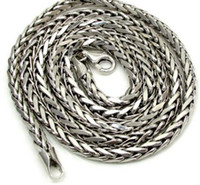 Wholesale wheat chain filled resale online - 16 quot mm k White Real Gold Franco Wheat Italy Spider Chain Necklace Mens