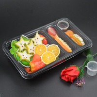 Wholesale disposable packing box for sale - Disposable Heat Resistant Packing Box Separat Plastic PP Lunch Boxes With Transparent Lid Lunchbox For Outdoor Take Out Picnic zq B RZ