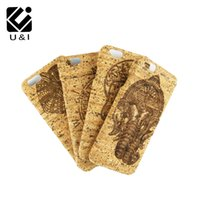 Wholesale Iphone Covers Factory - Ganesha Engraving Handmade U&I Real Cork Wood Case for iPhone 6 6S 6Plus 6SPlus 7 7Plus Back Cover Apple Capa Factory Custom Coque