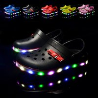Wholesale Girls Hollow Shoes - Leds shoes children shoes hole hole shoessummer sandals EVA hollow out The boy girl breathable Kids hoes