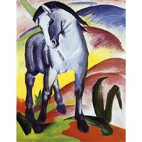 Wholesale Marc Painting - Modern paintings horses Blue Horse I-Franz Marc Canvas reproduction oil hand-painted