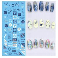 Wholesale fingernail wraps - New Water Transfer Nail stickers for women Beauty Harajuku Words Necklace Nail Wraps Sticker Fingernails Decals free shipping