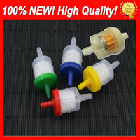 Wholesale Dirt Bike Gas - 1USD Free shipping Universal Petrol Gas Gasoline Liquid Fuel Filter for Scooter Motorcycle Motorbike Car Dirt Pocket Bike ATV Fuel Filters