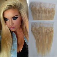 European Remy Hair 13x4 Free Part 613 Blonde Lace Frontal Encerramento Straight Human Hair 130% Density FDSHINE