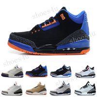 Wholesale 88 Cement Shoes - Drop Shipping Retro 3 Cyber Monday 88 True Blue white Black cement For Men Basketball Sport Shoes ships out within 2 days