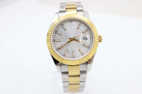 Wholesale ii tone - Just II two-tone Gold Silver sapphire GD2836 Automatic movement model 126303 White dial Date luxury brand men's luxury brand wristwatch