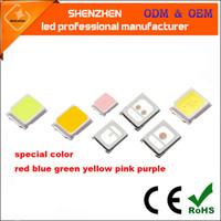ingrosso 3w luce rossa del branello principale-rosso blu verde giallo rosa viola SMD2835 chip LED 0.2W 60mA SMT montaggio superficiale LED chip diodo ad emissione luminosa DIY