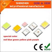 diodos de montagem em superfície venda por atacado-Vermelho azul verde amarelo rosa roxo SMD2835 LED Chip de 0.2 W 60 mA SMT Surface Mount LED Chip Diodo Emissor de Luz DIY