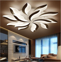 Wholesale acrylic ceiling lamp chandelier - Plafond Modern Acrylic Led Ceiling Lights Leaf Ceiling Chandeliers For Living Study Room Bedroom lampe Indoor Ceiling Lamp