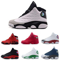 Wholesale Cheap Mens Sneakers Online - [With Box] Jumpman 2016 Cheap New air retro 13 XIII Mens Basketball Shoes red Bred He Got Game Black Sneaker Sport Shoes Online Sale US 8-13