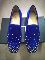 Factory Handmade Luxury Men Shoes Spikes embellished mocassins glisser sur élégant printemps automne chaussures