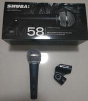 instrumentenmikrofone großhandel-Freies verschiffen Ursprüngliche shuba sm58s verdrahtete computer mikrofon netzwerk ausschalten / auf instrument aufnahme stimmmikrofon