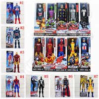 <b>Avengers PVC</b> Action-Figuren Marvel Helden 30 cm Iron Man Spiderman Captain America Ultron Wolverine Figur Spielzeug 20 stücke OOA1340
