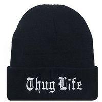 Wholesale Beanies Bboy - Foreign direct heating THUG LIFE BEANIE wet cap wool cap, BBOY knitted elastic cap
