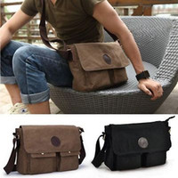 Wholesale School Satchels Book Bags - Wholesale-Men's Vintage Casual Canvas Shoulder Bags Messenger Man Satchel Boy School Book Bag Rucksack