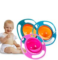 PP baby feeding - Practical Kid Baby Non Spil Feeding Toddler Gyro Bowl Rotating Baby Avoid Food Spilling Children Creation Bowl As Feeding