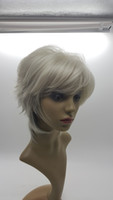 Wholesale Wig Blond Short - XT828 Synthetic Hair 13Inch Short Straight Hair Grey Hoar Blond New Hairstyles Women's Natural Hair Lace Wig