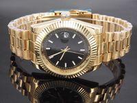 Wholesale Swiss Multi - 2017 Luxury Mens Brown Tachymeter Date Leather Sport Quartz Wrist Watch Fashion Swiss Design Drop Ship