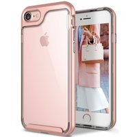 Wholesale Iphone Wholesale Case China - Hybrid Armor Cases 2 In 1 Clear TPU+PC Back For IPhone 7 7PLUS 6S Plus China Red Color Caseology Style Cradle