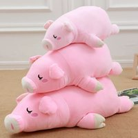 Wholesale Cute Pig Plush Toy - Feather cotton series pink pig doll soft pink pink cute pig doll plush toys large pillow